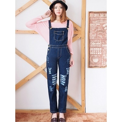 JUMPSUIT RIPPED LUTUT 592 NAVY