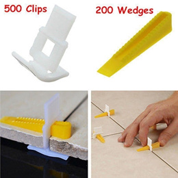 Useful 500 Clips + 200 Wedges Tile Leveler Spacers Lippage Tile Leveling System