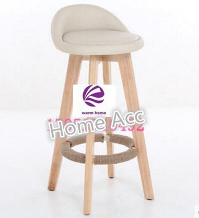 The bar chair wood chair backrest chair retro high foot stool chair lift bar stool bar chair