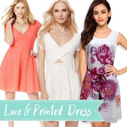 BRANDED Kaitlee Lace A-line Dress Floral Print Dress Premium  Qualiaty Cocktail Dress   valentine dress wanita 9a57c450a0