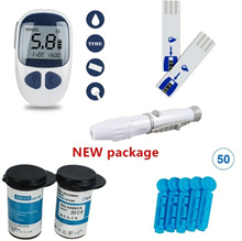 Electronic Glucometer Blood Sugar Tester With 50 Free Test Strips & 50 Free Lancets (Size: 240g, Col