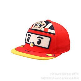 3afecbcf280 sale Robocar Poli Baseball Cap Snapback Hat Child Cartoon Pororo Robot Car  Visor Hat Transformation