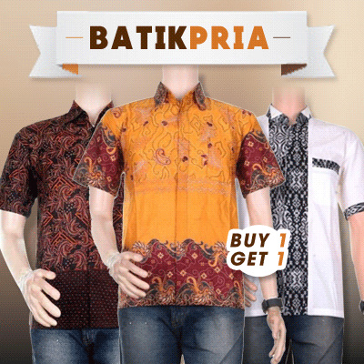 SALE!!! BUY 1 GET 1 FREE!!! Aneka Baju Atasan Batik Pria!!! Deals for only Rp125.000 instead of Rp125.000