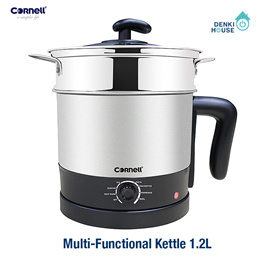 [Cornell] CMCE120S / Multi-Functional Kettle 1.2L / 304 stainless steel / glass cover / safety mark