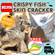 DELYCO Crispy Fish Skin Cracker 炸魚皮 600g READY TO EAT / FREE SEALING CLIP / FREE DELIVERY★HONG KONG★