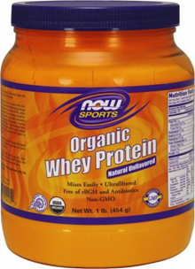 Now Whey Protein Natural Unflavored (Organic) 1 lb.