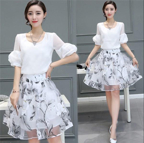 レディースワンピース 韓国無地 スリム 韓国のファッション  二点セット シフォンワンピース 上品 ロングスカート  ハイウエストワンピース  プリントワンピース  ハイセンス 着心地いい おしゃれ