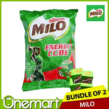[MILO] Energy Cubes 50pcs x 2 ★ INDIVIDUALLY PACKED ★ 137.5g