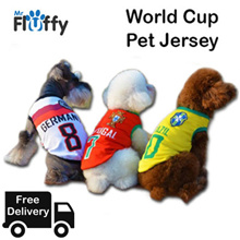 1+1 2018 Russia World Cup Pet Jersey / Argentina / Germany / Brazil / Portugal / Italy / Dog / Cat