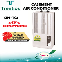 Trentios SIN-TC1 Hoseless Casement Aircon (3 in 1: Cooling / Fan / Dehumidifying) Free Installation