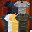 Solid color short-sleeved bottoming shirt mens short-sleeved t-shirt V-neck tight compassionate Korean cotton shirt