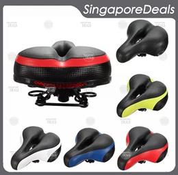 Comfortable Bicycle Suspension Saddle Bike Seat Gel Saddle Black Wide Big Bum Bike Reflector