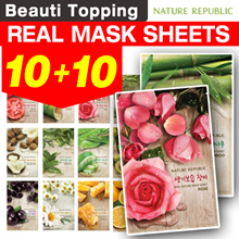 Purchase Over $60 APPLY $10 ★10+10★Nature Republic★1 SET=10 SHEETS★Real Nature Mask[Beuati Topping]