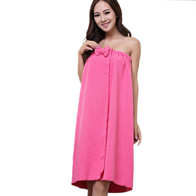 Women Microfiber Bath Towel Bath Robe Bathrobe Body Spa Bath Bow Wrap Towel  Super Absorbent Bath 25baac8ff