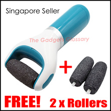 [SG FREE SHIPPING] ★Electronic Foot File★ FREE! 2 x Replacement Rollers Pedi Singapore Seller
