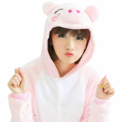 9f4645cd410d COUPON · New Pink Pig Cosplay Adult Animal Costume Jumpsuit Pyjamas Pajama  Sleepwear