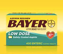 Bayer aspirin low dose 81mg 400 tablets [BAYER LOW DOSE ASPIRIN 81MG, 400 TABLETS]