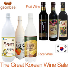 [Geonbae Korea Wine] Flavored Makgeolli (Korean rice wine) and Korean fruit wines (Bokbunja plum)