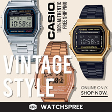 CASIO VINTAGE STYLE WATCHES SERIES! Free Shipping and 1 Year Warranty.
