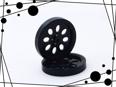 1pair 70mm Rubber Wheels Match 360 Degree Servo Wheels Accessories For DIY  Robot (Color: Black)