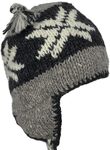 Headchange Wool Winter Chullo Beanie Fleece Lined Toque Cap Ear Flaps  Sherpa Peruvian 40ed1d49189