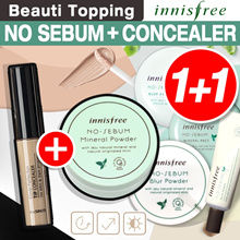 Qoo10 Lowest Price★Innisfree★1+1★Steady Seller HOT DEAL★No Sebum Mineral and The Saem concealer[Beau