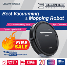 [Official Store]Ecovacs OZMO600 Robot Vacuum Cleaner+110 mins Mopping 2 in 1+App Control+Google Home