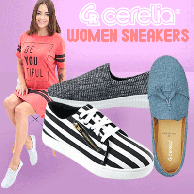 Sale! Cerelia Sneakers Deals for only Rp115.000 instead of Rp115.000