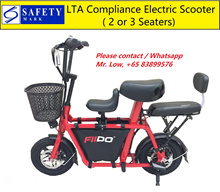 Fiido LTA Compliance Electric Scooter * Carry Up to 2 Children * 2 or 3 Seats* Baby Seat