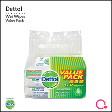 [RB Health] Dettol Wet Wipes Value Pack 10 sheet x 3 | Total 30 sheets