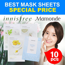Restocked Today !  [Innisfree] Best Mask Sheets 10PCS/My sqeeze / Green Tea / Honey