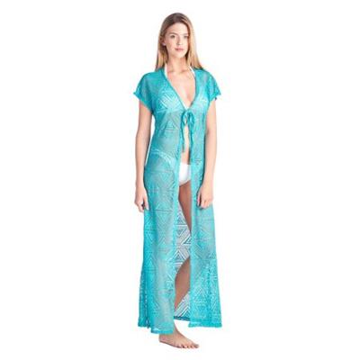 478fa2f5ecc SHORE TRENDZ Womens Open Front Long Swimwear Cover-up Beach Dress Made in  USA