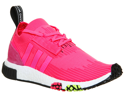 timeless design 7f4ea d89ec adidasAdidas 아디다스 Nmd R1 Racer Trainers Solar Pink Black