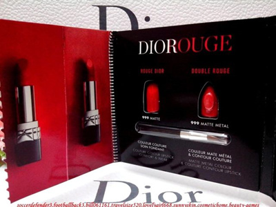 Mybeautystory」- Dior Rouge Card 999 and Double Rouge 999 0.4ml x ...