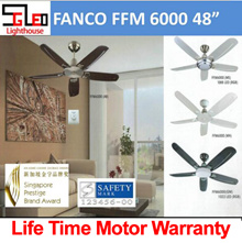 FFM6000 Fanco Ceiling Fan [Warehouse Direct] Ceiling fan with remote control and light option