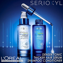 ★No.1 Best-Selling Hair Loss Tonic★ LOreal SERIOXYL Denser Black Thicker 90ml Shampoo Conditioner 1L