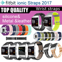 Fitbit Ionic Strap watch band sports  silicone Stainless Steel Metal Milanese Loop leather strap SG