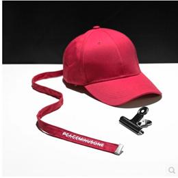 Right wing with the paragraph PEACEMINUSONE baseball cap metal clip long belt gd baseball cap female