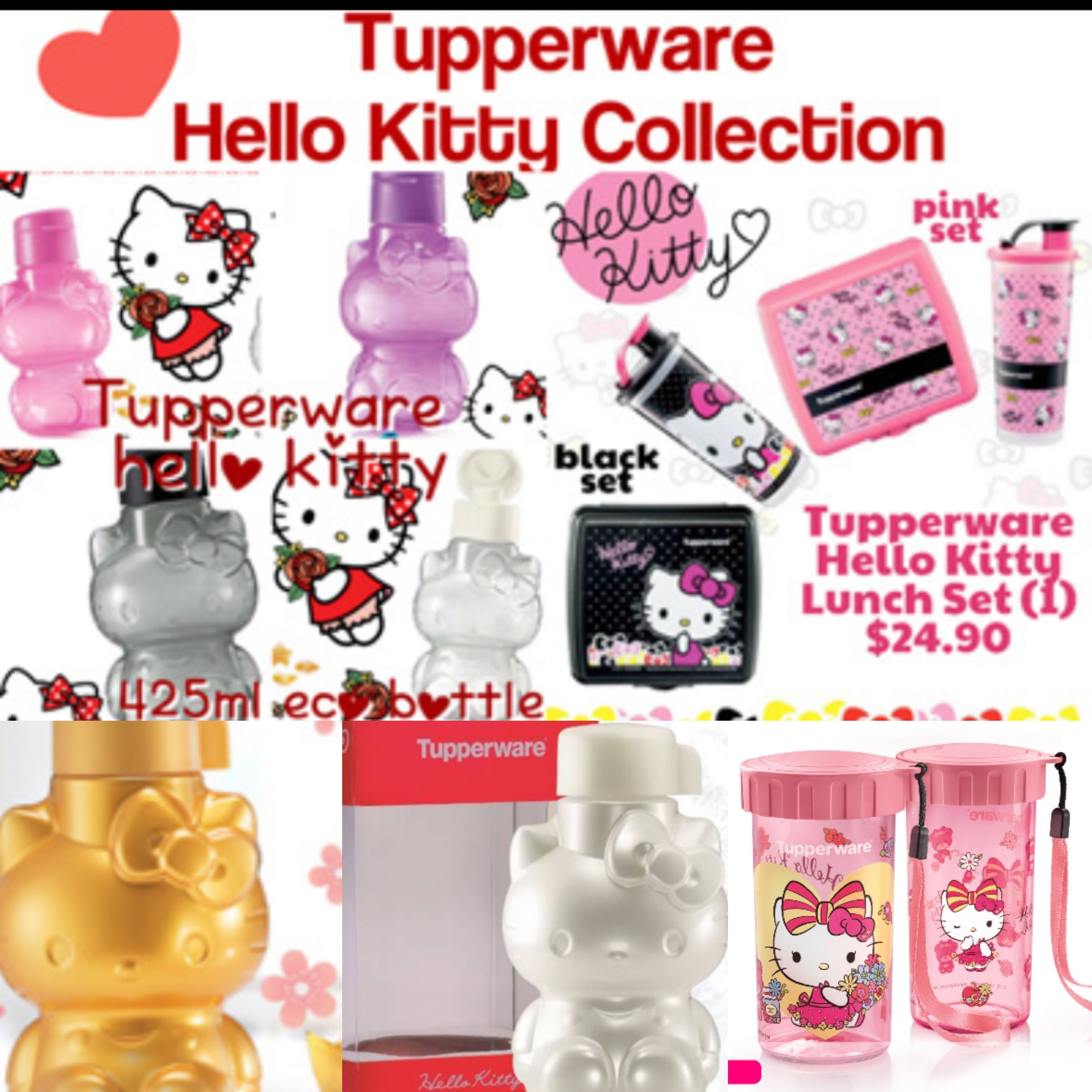 742381112 fit to viewer. prev next. Tupperware Hello Kitty Collection: Eco Bottle ...
