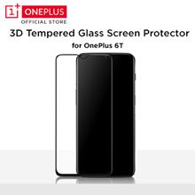 OnePlus 6T 3D Tempered Glass Screen Protector (Black)