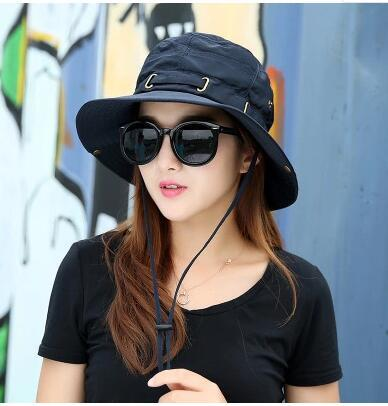Premium Sun protection outdoor hat sun hat female summer visor Korean  version of the summer folding fisherma 68eed463c0