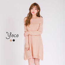 YOCO - Off-shoulder Knit Dress-170164