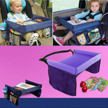 Portable Baby Kids Toddler Car Safety Seat Snack Travel Tray Board Waterproof