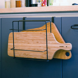 【KITCHEN TOWEL AND CHOPPING BOARD HOLDER】 hanging on the kitchen cabinet or hang on the door cabinet
