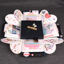 ❤Souvenir gift❤Korean DIY Manual album book/Explosion Box Photo Album/Romantic album of lovers
