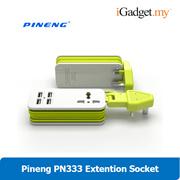 Pineng PN-333 Charger UK Extension Universal 4 USB Port Portable Socket Plug