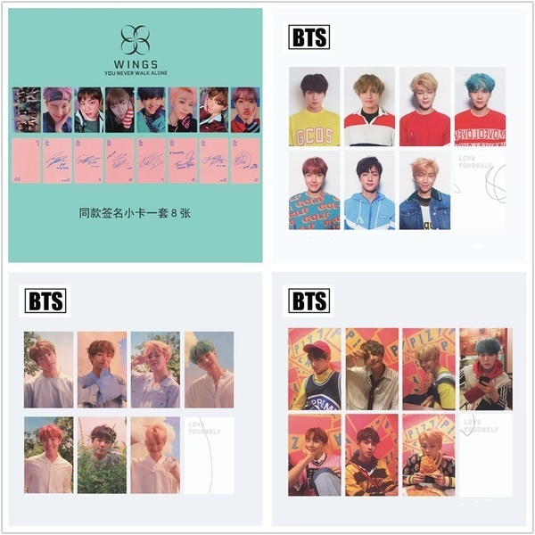 BTS You Never Walk Alone & Love Yourself Photo Cards Autograph Collective  Photocards