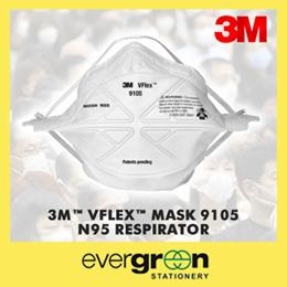 3M™ VFlex™ Mask 9105 N95 Respirator - Small / Regular - Haze / NIOSH Approved / PM2.5 / Particulate / Pollution / Allergy / 3 Masks per Pack