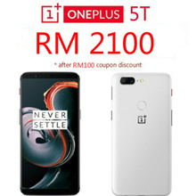 [ Buy at RM 2100 with RM 100 coupon discount ] Oneplus 5T Dual Sim 64GB/128GB LTE (Midnight Black) - 1 Year Seller Warranty