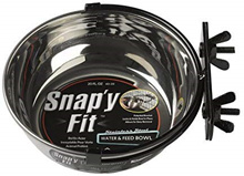 [Pets] MidWest Stainless Steel Snap y Fit Water and Feed Bowl, Silver, 20 Ounces